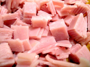 cut up ham